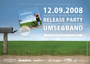 Der Flyer zu Umses Releaseparty